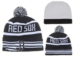 Wholesale Boston Red Sox Pom Beanies Hotselling Sport Team Knitted Skullies Authentic Brand Winter Hats