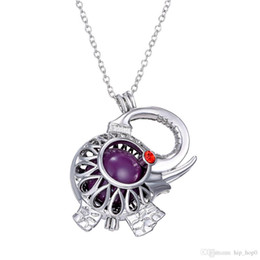 2016 New Fashion Angel Callers Sound Chime Love Animal Elephant Hollow Locket Pendant Necklace With One Chime Ball 2016 Fashion Mexican Bola