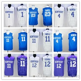 Wholesale 2016 Kentucky Wildcats John Wall Anthony Davis College Jerseys Rajon Rondo Skal Labissiere Karl Karl Anthony Towns
