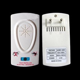 Wholesale Electronic Ultrasonic Mosquito Rat Cockroach Fly Bugs Insects Fleas Pest Repellent Repellent Device Control EU US Plug White