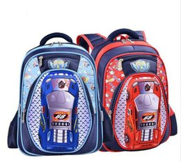 Wholesale Children School Bag Car Blue - 3D Cartoon Big Capacity Russia Style Orthopedic School bags For Boys Car Ultralight Waterproof Backpack Child Kids School bag