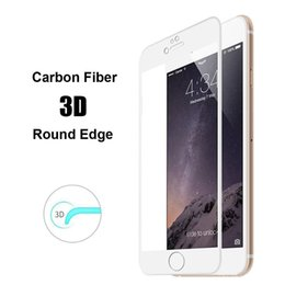 Wholesale 0 mm H Ultrathin Carbon Fiber D Round Edge DropProof Crystal HD Clear Tempered Glass Screen Protector For iphone s Plus