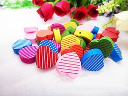 100pcs lot Wholesale Mixed Wood Beads Lead-free Heart Wooden Beads For DIY jewelry Finding 18mm Hole:2.5mm K04527