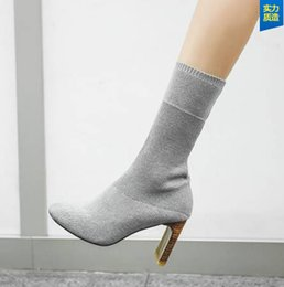 2018 New style fashion Womens High Heel Ankle Boot Booties Stiletto Platform Almond Toe Shoes