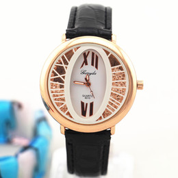 PVC leather band,gold plate round case,crystal moving stone under glass,Gerryda fashion woman lady quartz leather watches,Free shipping!8010