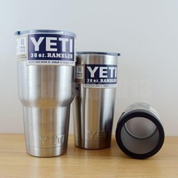 Wholesale YETI oz Cup Coolers Rambler Colster Vacuum Insulated Tumbler Vehicle Car Beer Yeti Mugs Insulated Bilayer Stainless Steel Water Bottle