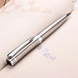 Acero inoxidable clásico plumín media metal plateado de la torcedura del bolígrafo de tinta Negro 0,5 mm para la oficina de negocios de la firma desde bolígrafo de giro proveedores