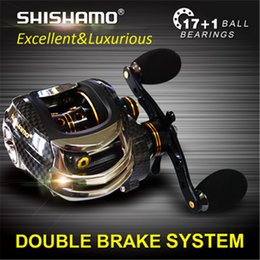 Wholesale Japan Technology Baitcasting Fishing Reel Dual Break System Centrifugal and Magnetic Brake BB Match For Any Bait casting Rod fish tackle