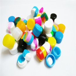 FDA Approved Food Grade Bho Silicone Concentrate Container Storage Container 2ml Mini Round Silicone Jars Container