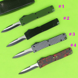 Wholesale MINI Microtech Pocket knife EDC pocket Knives Mini knife C blade small EDC keychain knife microtech AUTO knives camping knife Xmas gift