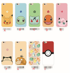 Wholesale New Arrivals Poke Ball Go Soft TPU Clear Crystal Case Cover For iphone s plus s S MOQ Per Models