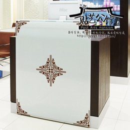 Wholesale Flower vine corner kitchen wall stickers decoration decor home decal fashion cute waterproof family house glass cabinet