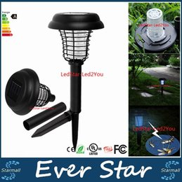 Wholesale Best Solar Powered LED UV Mosquito Killer Lamp Outdoor Garden Insect Pest Bug Zapper Insect Killer cm