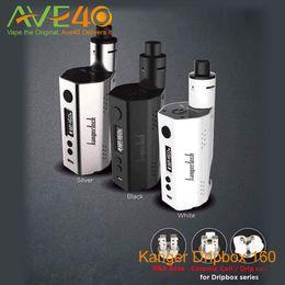 Wholesale Authentic kangertech dripbox w kit with ecigarette ml tank with DIY RBA base mtl DL drip tip kanger dripbox w TC box mods VS w