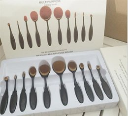 Wholesale Makeup Brushes sets Oval Brush Toothbrush shaped Foundation cleaner benefit cosmetics Cream Puff Powder Face Beauty Tools Accessories