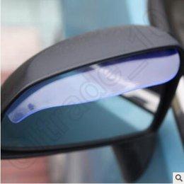Wholesale 1200pcs CCA3698 High Quality Car Sticker Rearview Mirror Rain Shade Universal Block Rain PVC Weatherstrip Auto Mirror Rainproof Rain Eyebrow