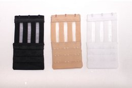 High Quality Stainless Steel Silk Ribbon 3 Rows 3 Hooks Bra Extender Elastic Fish Microfiber Style Bra Adjustable Buckles