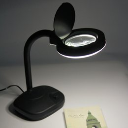 Wholesale Adjustable X X Tabletop Gooseneck Magnifying Glass Lamp Desk Light Jewelry