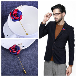 Korean version of the men's two-color cloth corsage dress suit coat pocket corsage brooch fashion men's banquet