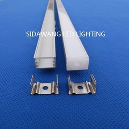 Wholesale 30pc m pack m per piece led aluminum profile channel for led strips QC1509 m with Milky or Transparent Cover