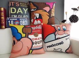 Pop Art Popeye Chewing Gum Santa Claus Cartoon Childhood Memories Massager Decorative Pillows Fiber Emoji Home Decor Arts Gift