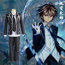 Wholesale Japanese Anime Guilty Crown Cosplay OUMA SHU Costume top pants shirt tie Kuhouin Arisa Costume top shirt skirt bow tie