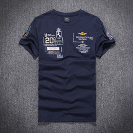 Wholesale Summer New Aeronautica Militare casual men t shirt Air Force One short sleeve men shirts Australia brand cotton t shirt