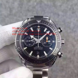 Wholesale Luxury Top Quality V6 Factory Maker mm Planet Ocean Co Axial ETA Upgrade CAL Movement Chronograph Mens Watch Watches