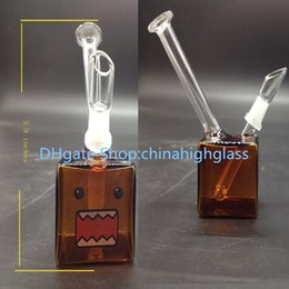 Wholesale lower price Newest mini glass bongs Amber color square mm joint water bongs