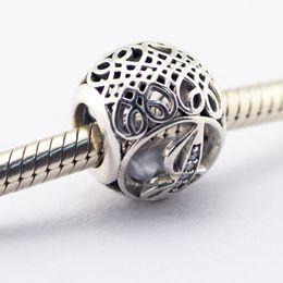 Wholesale Vintage Letter j Clear CZ Beads Fits Pandora Bracelets Beads Authentic Sterling Silver Beads DIY Charm Charms LE015 J