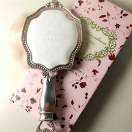 Wholesale LADUREE Les Merveilleuses HAND MIRROR N cosmetics Makeup mirror Compact Vintage Plastic holder make up pocket mirror