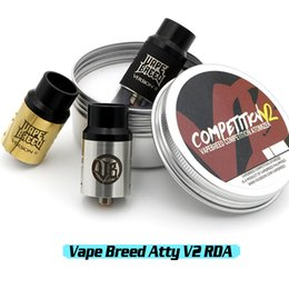 Wholesale Vape Breed Competition Atty V2 RDA Philippines Dual Post Atomizer New Design Coil Holes Adjustable Airflow With Wide Bore Drip Tip DHL