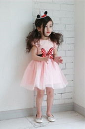Princess baby girls dress short sleeve children summer mesh tutu skirts girl's dots sequin dresses with big bow kids clothing