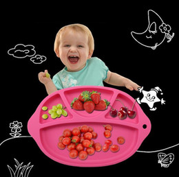 Wholesale Food grade silicon baby eating mat portable baby service plate safe and durable OPP bulk packing