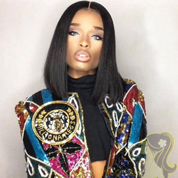Glueless Full Lace Wigs For Black Women Brazilian Human Hair Wigs Silk Straight Human Hair Wigs With Baby Hair