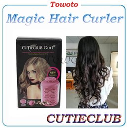 Wholesale CUTIECLUB Curl pods YDT500 Hair Curler Spiral Hair Rollers Curling Iron Wand Salon fast Hair Styling Tools Pink vs LEVERAG Magic Hair Curler