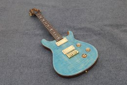Wholesale Solid body electric guitar Light blue Tremolo system custom guitar in stock factory handmade Chinese guitars