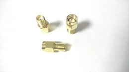 Wholesale 100 Gold plate connector SMA Male Plug To SMA Male RF adapter