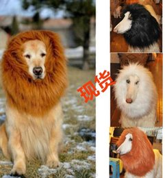 Wholesale Lion Wigs Dogs - Pet Costumes Cat Halloween Clothes Fancy Dress Up Lion Mane Wig for Large Dog Creative Wigs