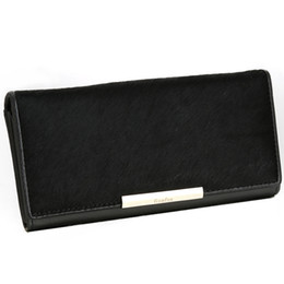 Long leather horsehair Wallet Purse Handbag female female hand bag female fashion clutch