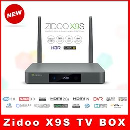 Wholesale ZIDOO X9S Android6 TV Box Realtek RTD1295 Quad Core G G HDMI OUT IN KODI Smart TV Russian Hebrew IPTV Europe Media Player