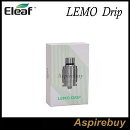 Eleaf Lemo Drip Tank First Rebuildable Drip RDA Atomizer Detachable Structure No Thread Connection Larger Slots Wide Open Space 100% Genius
