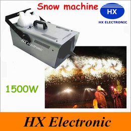 Wholesale 2016 weeding decor W DMX Snow Machine Amazing Artificial snow maker snow equipment for Christmas Stage Wedding CE ROHS UL cetification