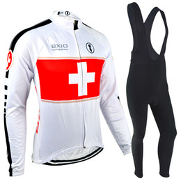 Wholesale BXIO Brand White Cycling Jerseys Winter Fleece Thermal Cycling Kit Sleeve Sports Wear Bikes Cothes To Keep Warm Bicycle Clothing BX