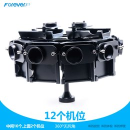 Wholesale CNC Aluminium camera support Full Shot Photography Gimbal Panorama Frame Degree mount for Gopro Hero Can Mount Cameras
