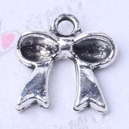 Bow Pendants Fit Bracelets or Necklace retro antique Silver bronze Charms DIY Jewelry 400pcs lot 3098z