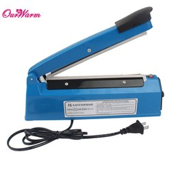 Wholesale Blue FS Impulse Sealer Hand Heat Sealing Machine Plastic Bag Closer Teflon Sealing V US Plug