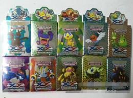 Juegos para niños en venta-2 estilo de juego del empuje tarjetas 17pcs / Set Jugando a granel Juegos Juguetes XY juguete Mega Exs poke bola Inglés Kids