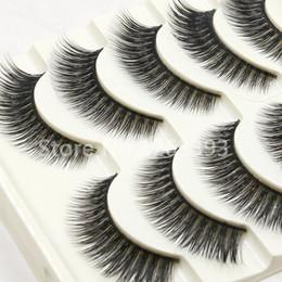2016 New 3D Thick False Eyelashes 3D Cross False Eyelashes Naturally Slim High Quality Makeup Tool False Eyelashes