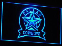 Signes de cow-boy en Ligne-B239 Dallas Cowboys LED Neon Sign Bar Decor bière Livraison gratuite Dropshipping 7 couleurs à choisir